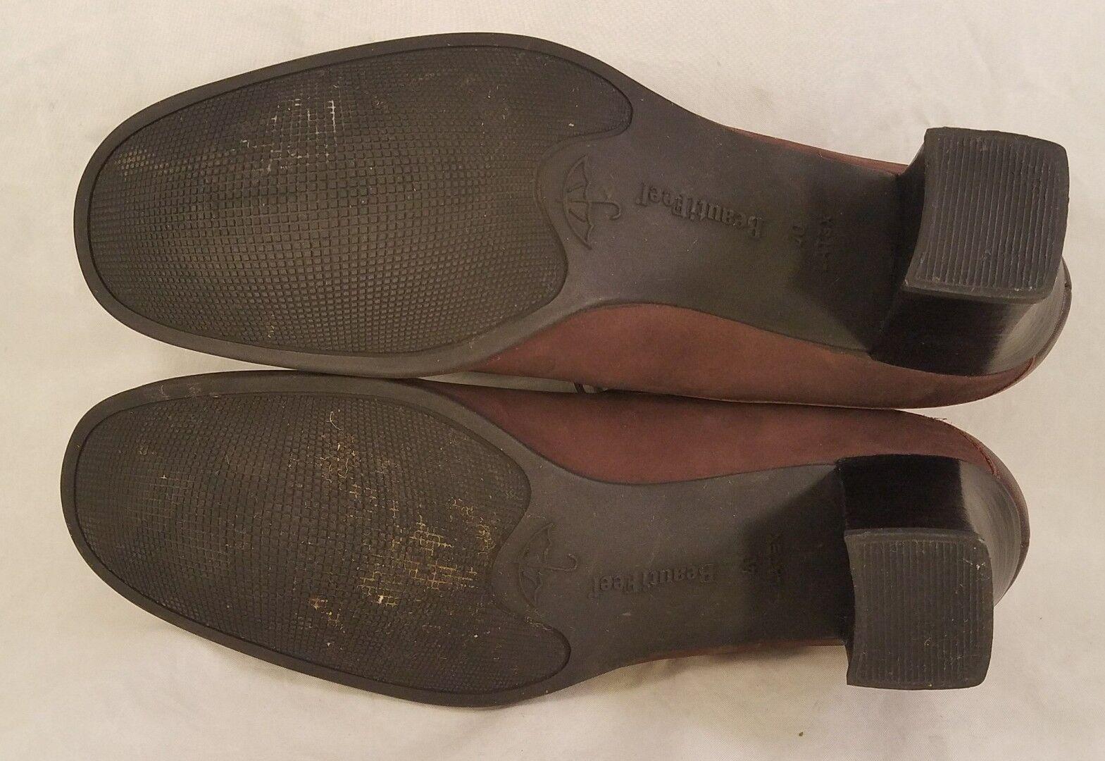 BEAUTIFEEL WOMAN chaussures MARY JANES marron NUBUCK NUBUCK NUBUCK  Taille 40  USA 9 EUC b16bee