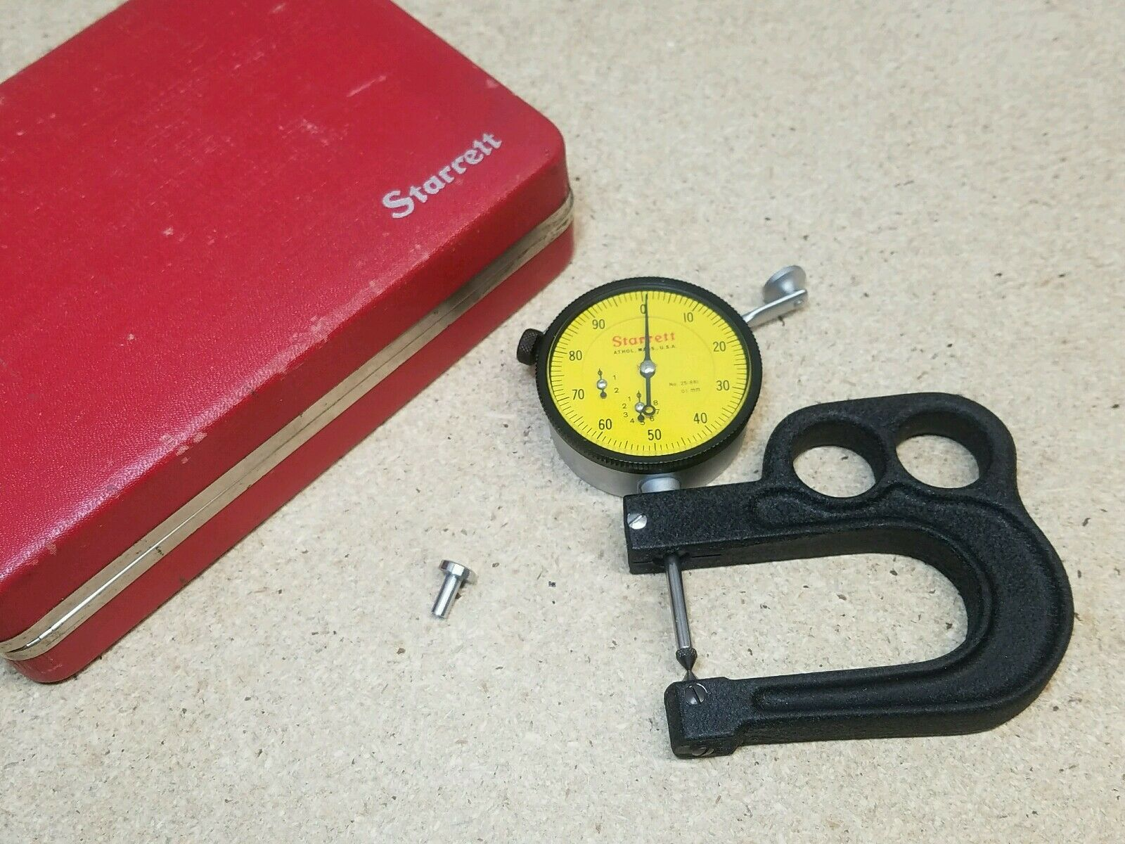 Starrett No 25-881 25mm .01 Mm Dial Indicator for sale online