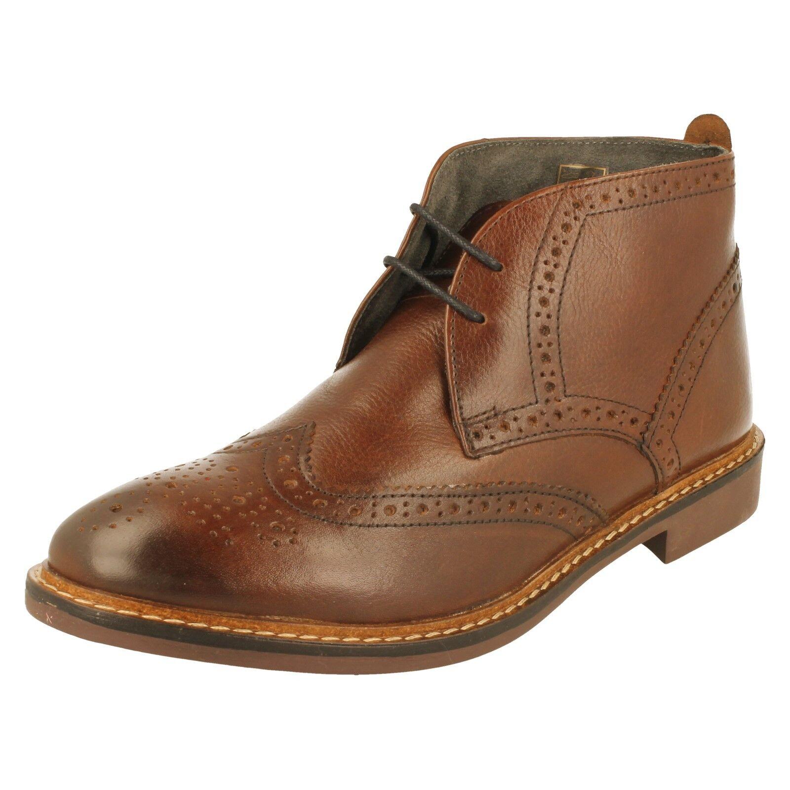 Men's Base London Brogue Ankle Boots - Trick