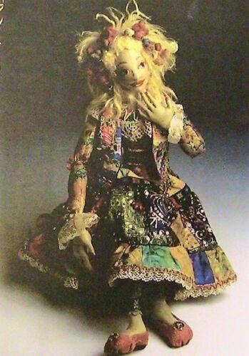 """GOBLIN PRINCESS~Patti Medaris Culea 20/"""" *RARE 1996//2004 cloth art doll pattern"""