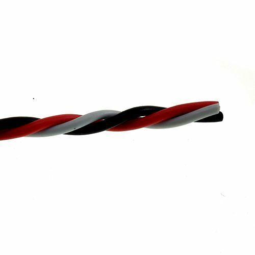 PVC 3-way Servo Wire Cable 20 22 26 28 32 AWG Flat or Twisted JR Hitec Futaba