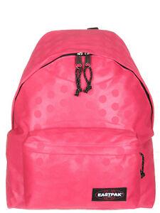 EASTPAK-EK620-padded-pakr-backpack-rucksack-bag-HEAT-DOT-PINK-Brand-New