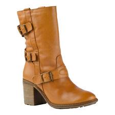 Shoot Stiefel Stiefelette Biker Boots Schuhe SH14162 Echt Leder Cognac Braun