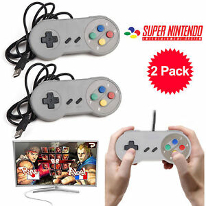 2-Packs-USB-Game-Controller-for-Super-Nintendo-SNES-Retro-Classic-Gamepad-Joypad