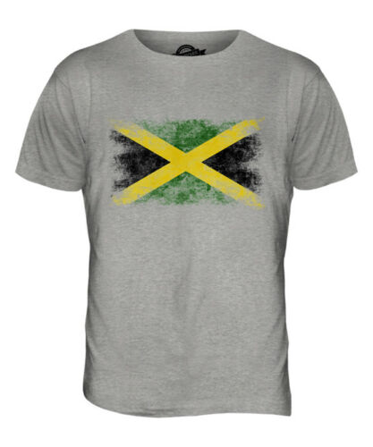 La jamaïque vieilli drapeau t-shirt homme top jamaican shirt football jersey cadeau
