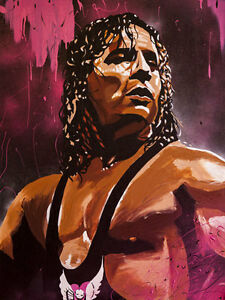 Autographed-Bret-Hart-18-x-24-Poster-Print-WWE-WWF-Hitman-WCW-Stampede-Photo
