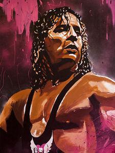 Bret-Hart-18-x-24-Print-Poster-WWE-WWF-Hitman-WCW-Stampede-Photo-Wrestling