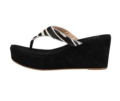 Versace 1969 Leder Pumps Sandalen Damen Schuhe Plateau Pantoletten Zehentrenner