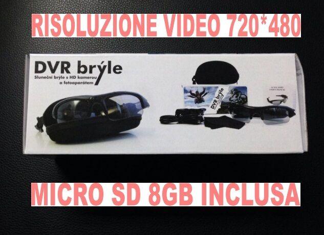 GAFAS VÍDEO LUZ DE 720x480 SOL 720x480 DE CON CÁMARA DE VÍDEO Cámara + MICRO SD 8GB 81cb92
