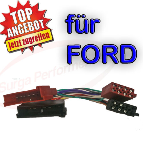 Radio CÂBLE ADAPTATEUR ISO DIN pour Ford Ka Fiesta Focus Cougar