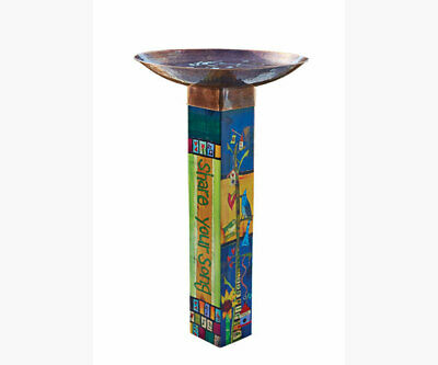 Home & Garden Bird & Wildlife Accessories Hot Sale Studio M Gather Friends Birdbath With Art Pole Mailpp266 Activating Blood Circulation And Strengthening Sinews And Bones