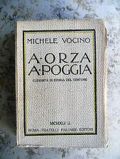 MICHELE VOCINO: A ORZA A POGGIA. CURIOSITA' DI STORIA DEL COSTUME - RARO