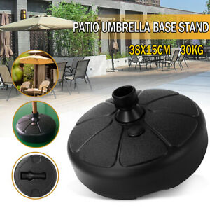 Patio-Yard-Outdoor-Round-Parasol-Umbrella-Stand-Base-Fillable-Weight-66-Pound