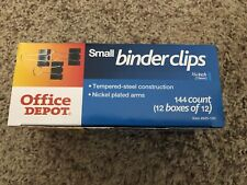 Office Depot Binder Clips Small 34 12 Boxes Of 12 144 Clips Total Brand New