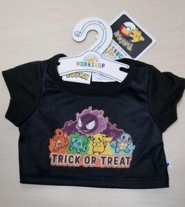 8d535573 Build-A-Bear Pokemon Halloween Trick or Treat T-Shirt NWT Bulbasaur ...