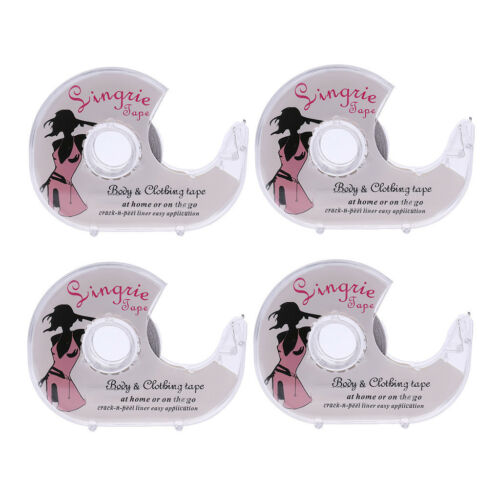 4x Double-Sided Lingerie Tape Adhesive For Clothes Dress Body Wedding Prom
