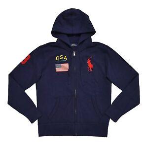 Ralph Usa Full Details Pony Hoodie Zip Big S About M Navy Polo Sweatshirt Lauren Womens L XZuOPki