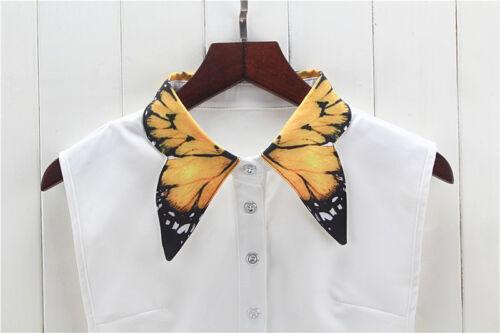 Detachable Women Cotton Lapel Shirt Fake False Collar Choker Necklace #EAF120
