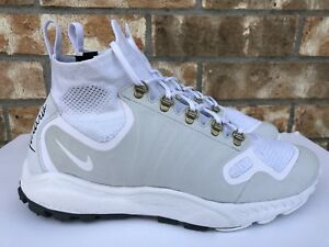 a7df6845d7bc Men s Nike Zoom Talaria Mid FK FlyKnit White Pure Platinum Size 10.5 ...