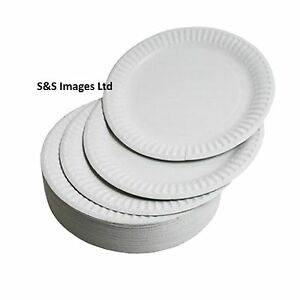 Image is loading WHITE-ROUND-DISPOSABLE-PAPER-PLATES-SIZE-6-034-  sc 1 st  eBay & WHITE ROUND DISPOSABLE PAPER PLATES SIZE 6