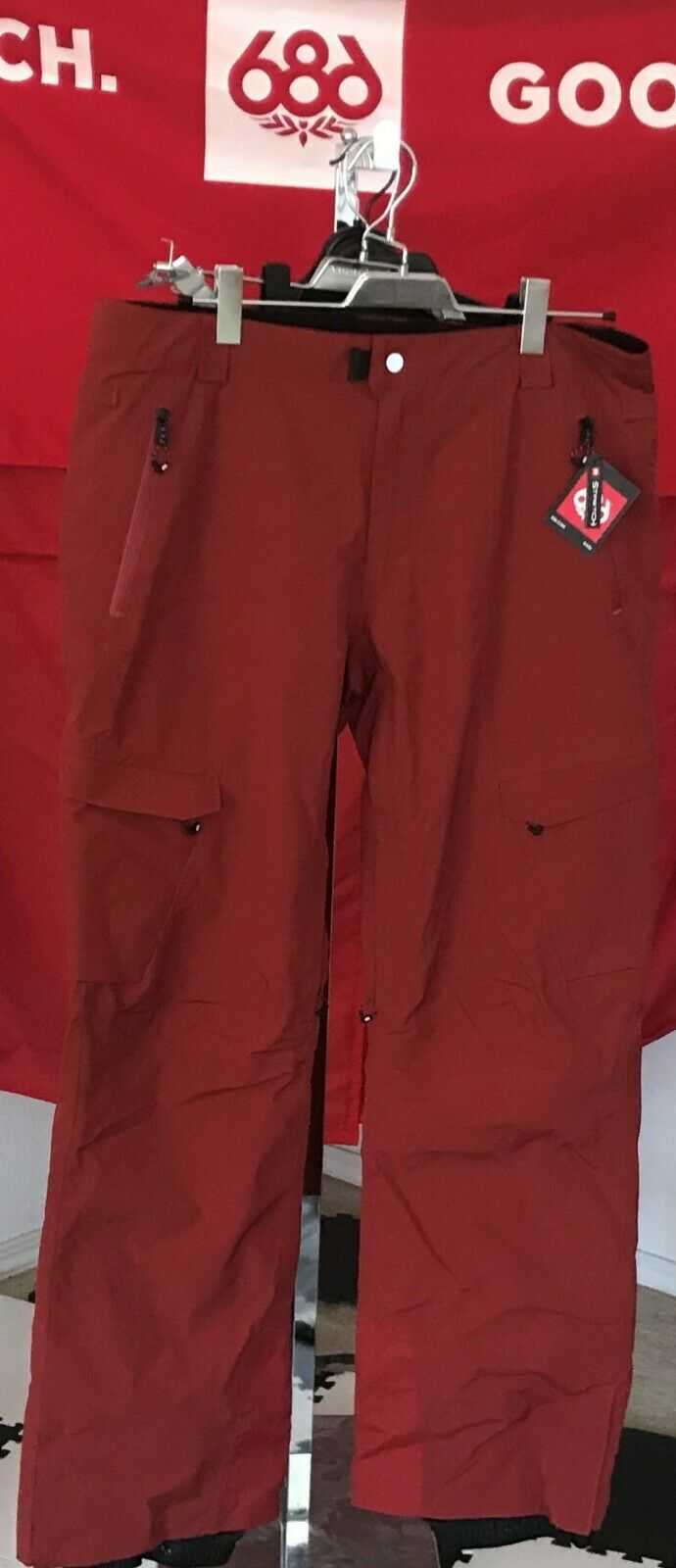 2020 NWT 686 Quantum Thermagraph Pant Pants Mens L  Large Snowboard 20K Red b44  cheap sale