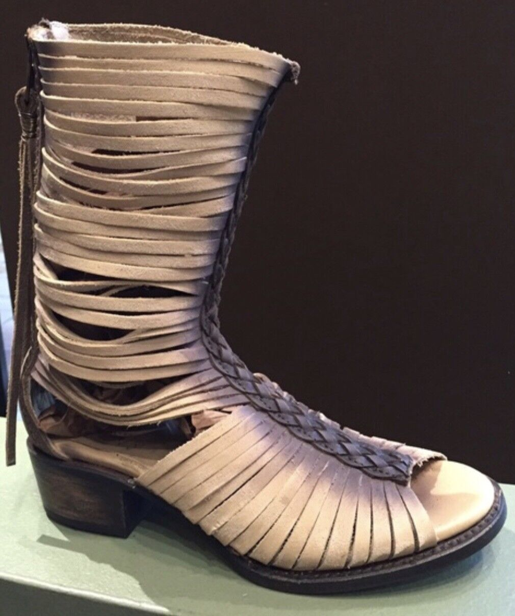 FREEBIRD BY STEVEN India' Cage Cutout Boot  TAUPE Boho NEW MSRP  275