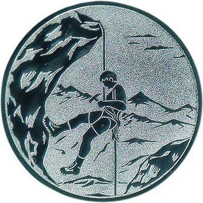100 große Embleme Bergsteigen gold  D:50mm (für Medaillen Pokale Pokal Medaille)