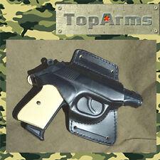 Cinturon para pistola Makarov, baikal, Walter pp cuero negro pk-81