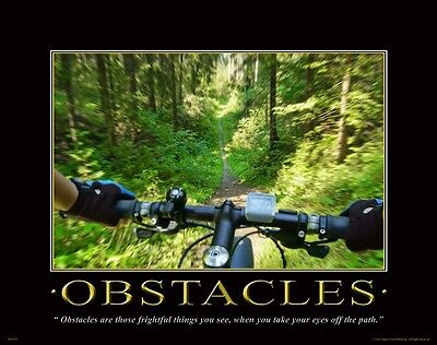 Bicycle Motivational Poster Art Print Mountain Road Bike BMX Office Wall Decor