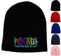 Festivus For The Rest Of Us Embroidered Skull Cap - Available 5 Colors - Beanie