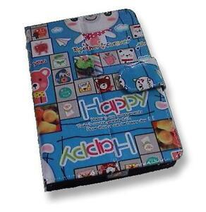 Happy-Cartoon-Pattern-Motif-PU-Flip-Travel-Carry-Case-Book-Cover-for-Nexus-7