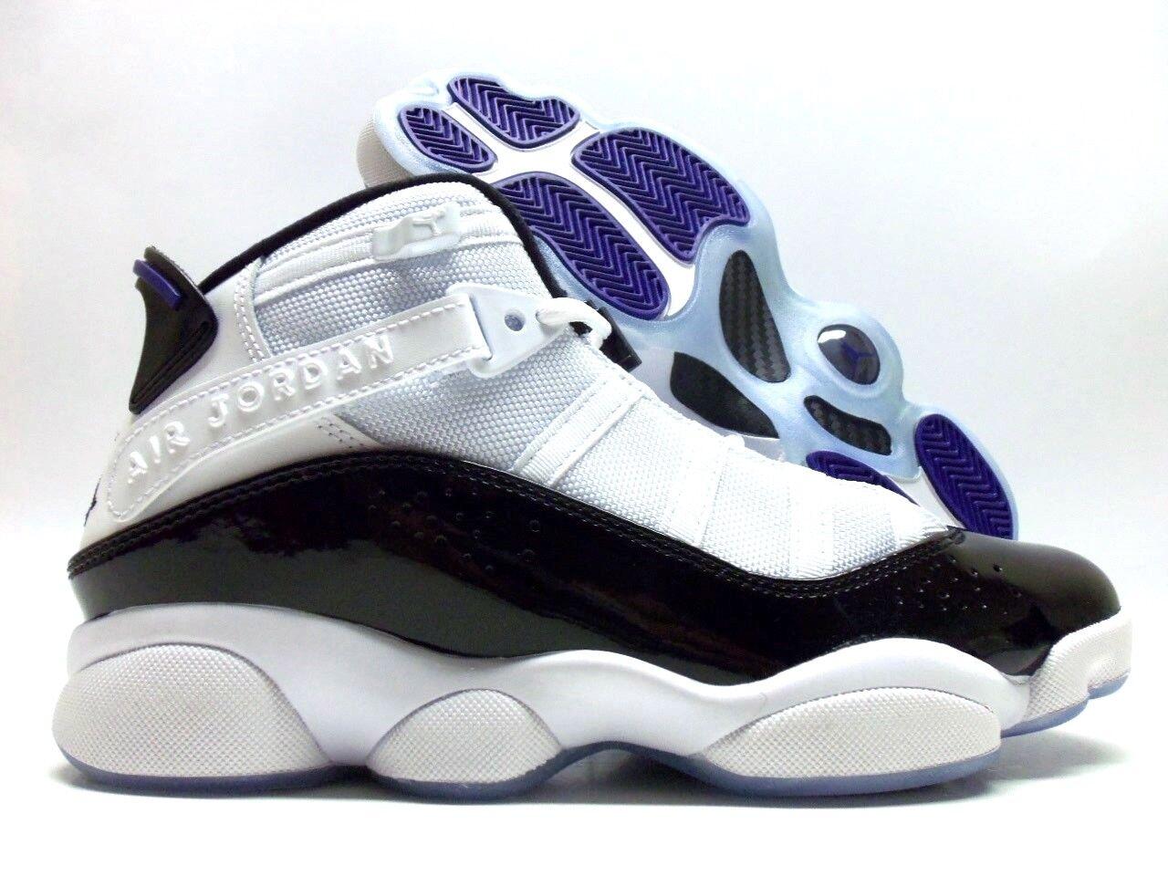 Nike jordan6 anelli bianchi / nero-dark concord dimensioni uomini [322992-104]