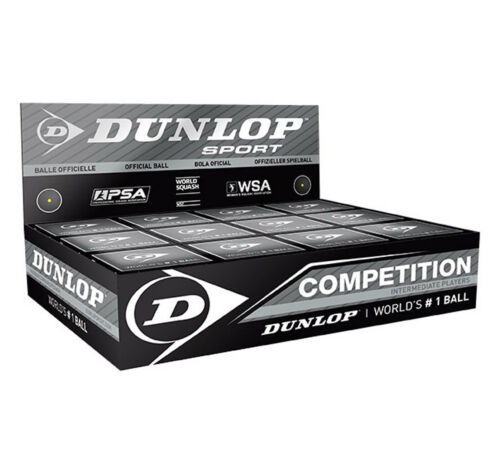DUNLOP COMPETITION SINGLE YELLOW DOT VARIOUS QUANTITIES, UK  48 HOUR POSTAGE