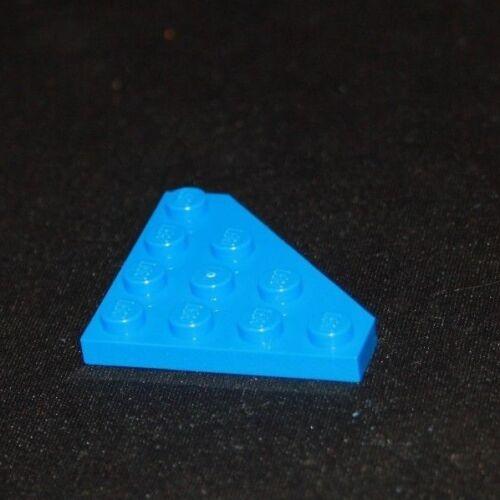 4609342-30503 Aile Wedge plate 4x4 Cut Corner BLEU BLUE Lot x4 Lego