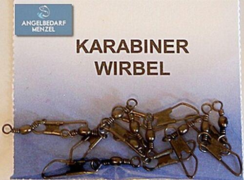 Sicherheitswirbel  Wirbel Größe 2-18 Angelwirbel Tönchenwirbel Karabiner Zubehör
