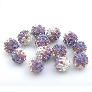 5pcs-Purple-Clear-Czech-Crystal-Rhinestones-Round-Ball-Spacer-Beads-10MM