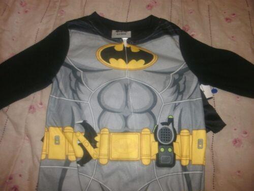 Toddler Boys/' Batman Fleece Footed Sleeper with Cape 2T B7