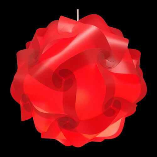 Bzwoyk 30Pcs Small Ceiling Lampshade Creative IQ Puzzle Jigsaw Light Lamp Shade