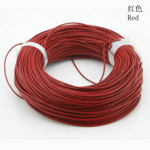 Real Jewelry Leather Bracelet Round 10m Cord 1.5//2//2.5//3//4//5//6//7//8mm Making