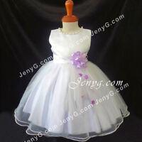 Nlp5 Baby Mädchen Taufkleid Kommunionkleid Festkleid Party Weiß Größe 50-104