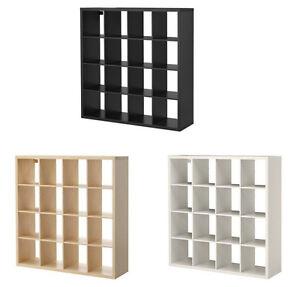 IKEA KALLAX Shelf Unit Book case DIFFERENT COLORS White - Brown Black - Birch