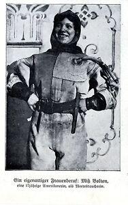 Einfach Miß Bolton Eine 17jährige Amerikanerin Als Meerestaucherin Frauenberufe Von 1909 VerrüCkter Preis Memorabilia