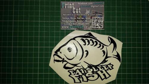 Pêche à La Carpe Autocollant x1-Eat Sleep Fish Voiture//Van//Tacklebox//Vélo//baitbox//reel.