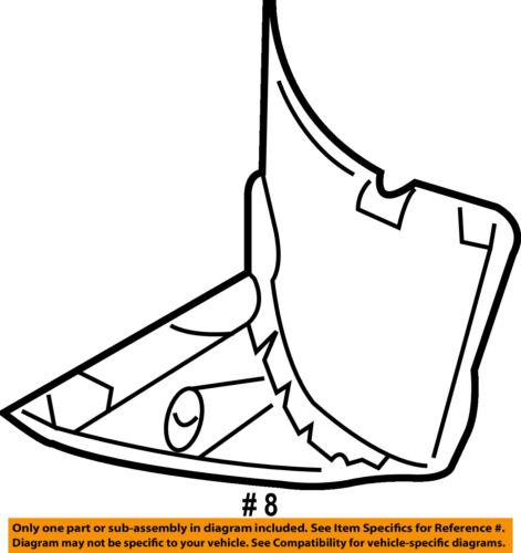BMW OEM 01-06 325Ci-Front Fender Liner Splash Shield Right 51718224986