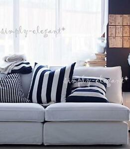 ikea vargyllen cushion cover 20x20 decorative black white stripe pillow cover ebay. Black Bedroom Furniture Sets. Home Design Ideas