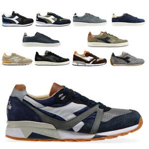 Diadora-Heritage-Uomo-Scarpe-Sneakers-Equipe-Game-B-Elite-Camaro-N9000-Blue-Nero