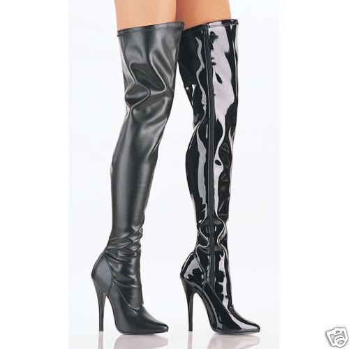 SEXY zapatos FETISH  DOMINA  botas COSCIA COSCIA COSCIA TACCO spillo 15 dal numero 36 al 46  increíbles descuentos