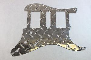 economy aluminum diamond plate hsh strat pickguard fits. Black Bedroom Furniture Sets. Home Design Ideas