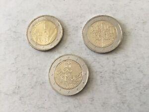 3 pièces 2€ commém. Estonie 2016/2019/2020