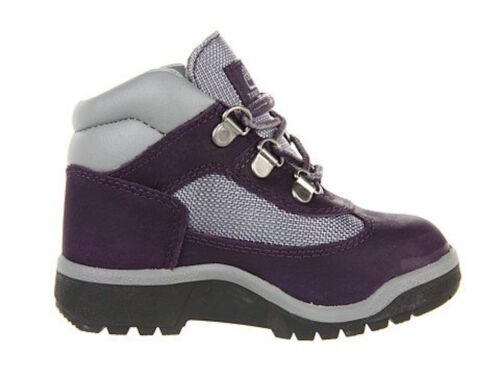 Timberland Toddlers Field Boot Leather /& Fabric Purple//Grey